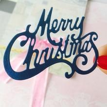 Merry Christmas Metal Cutting Dies for Scrapbooking DIY Album Embossing Folder Paper Card Maker Template Decor Stencils Craft merry christmas trees sticker painting stencils for diy scrapbooking stamps home decor paper card template decoration album