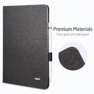 """Image 2 - ESR Case for iPad Air 3 2019 Simplicity Oxford Cloth PU Leather Smart Cover Folio with Pencil Holder for iPad Air 3 10.5"""" 2019"""