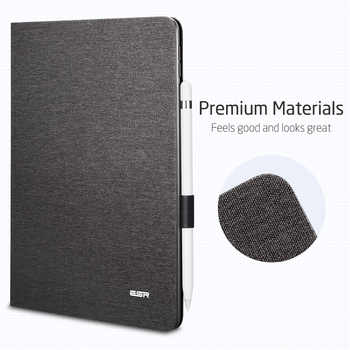 "ESR Case for iPad Air 3 2019 Simplicity Oxford Cloth PU Leather Smart Cover Folio with Pencil Holder for iPad Air 3 10.5"" 2019"
