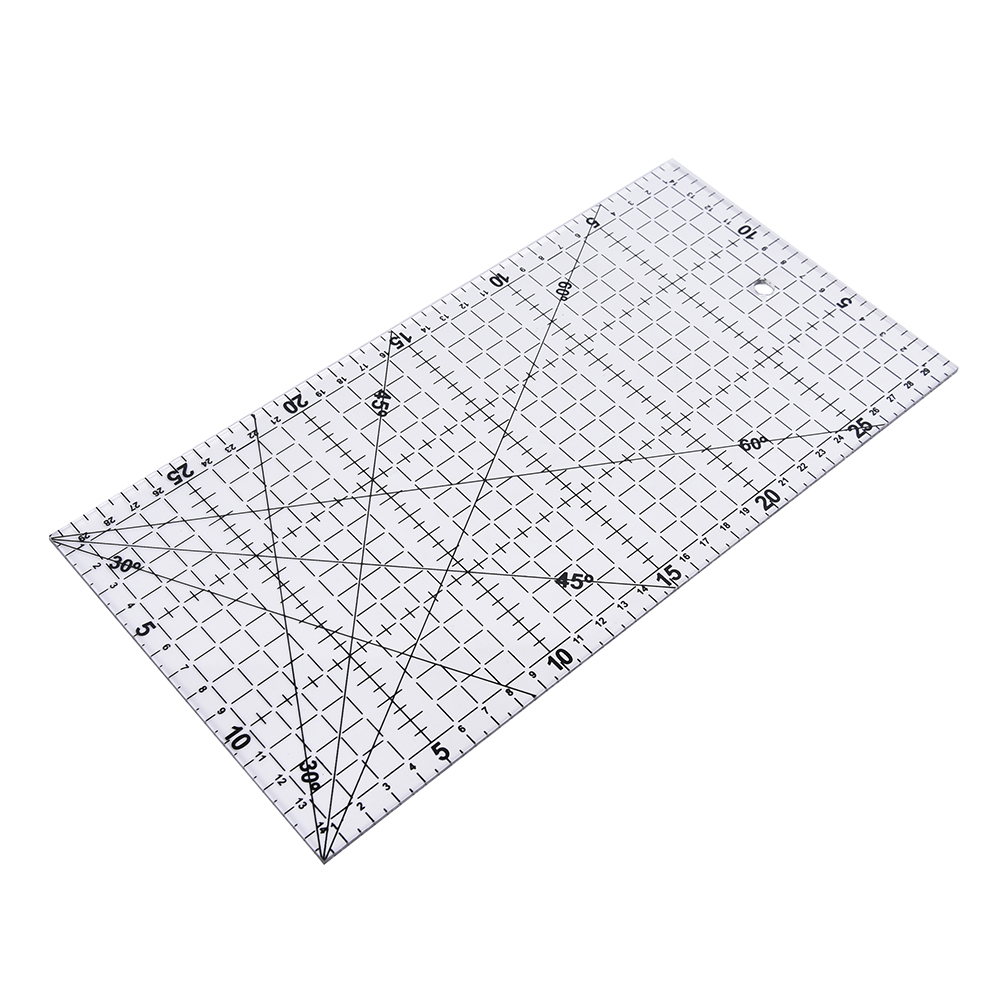 30X15cm Big Size Thick Cloth Patchwork Sewing DIY Tool Ruler Transparent Quilting Sewing Patchwork Foot Aligned Ruler