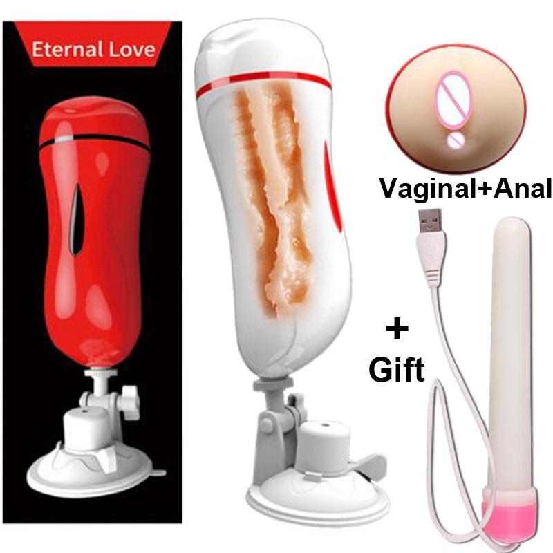 MizzZee Vagina anal dual kanal masturbation tasse Vagina echte pussy Penis pumpe Vibrator für männer Männlichen Mastrubator für männer Blowjob