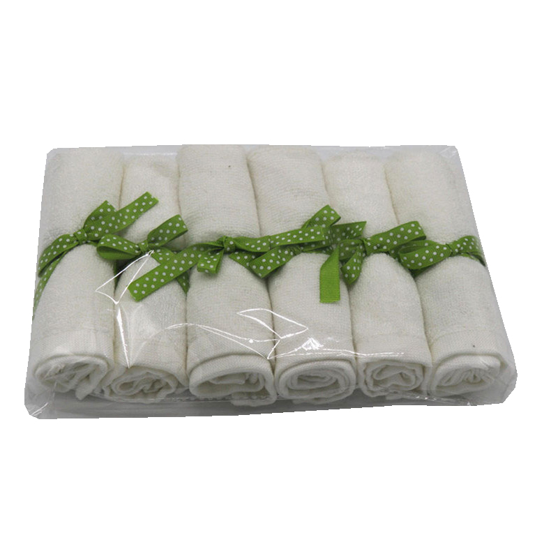Organic Premium Bamboo Baby Washcloths 100%bamboo Fiber Natural Baby Towel 6 Pack/set Per Polybag Size 10