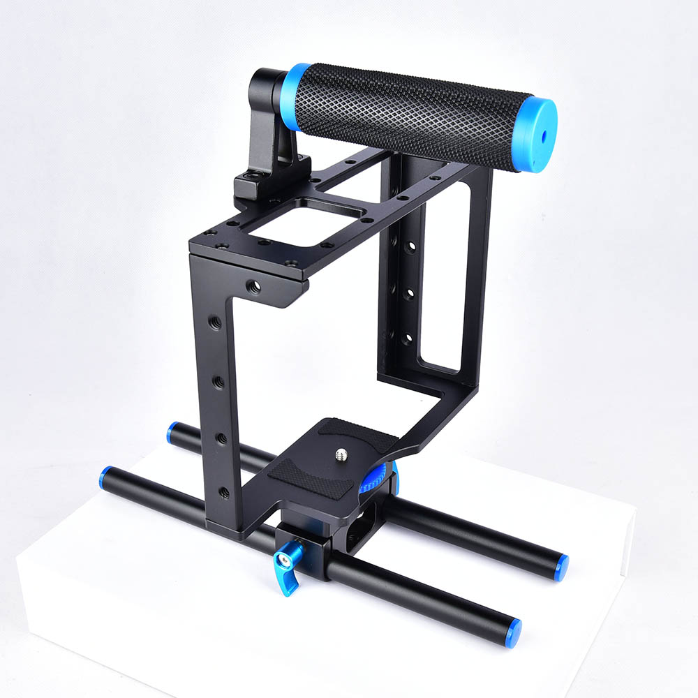 Image 2 - Yelangu DSLR Rig Camera Cage Kit Shoulder Stabilizer System Video Rig For Canon 5D Mark III IV 6D 7D Nikon D7200 Sony A7 GH5 GH4-in Photo Studio Accessories from Consumer Electronics