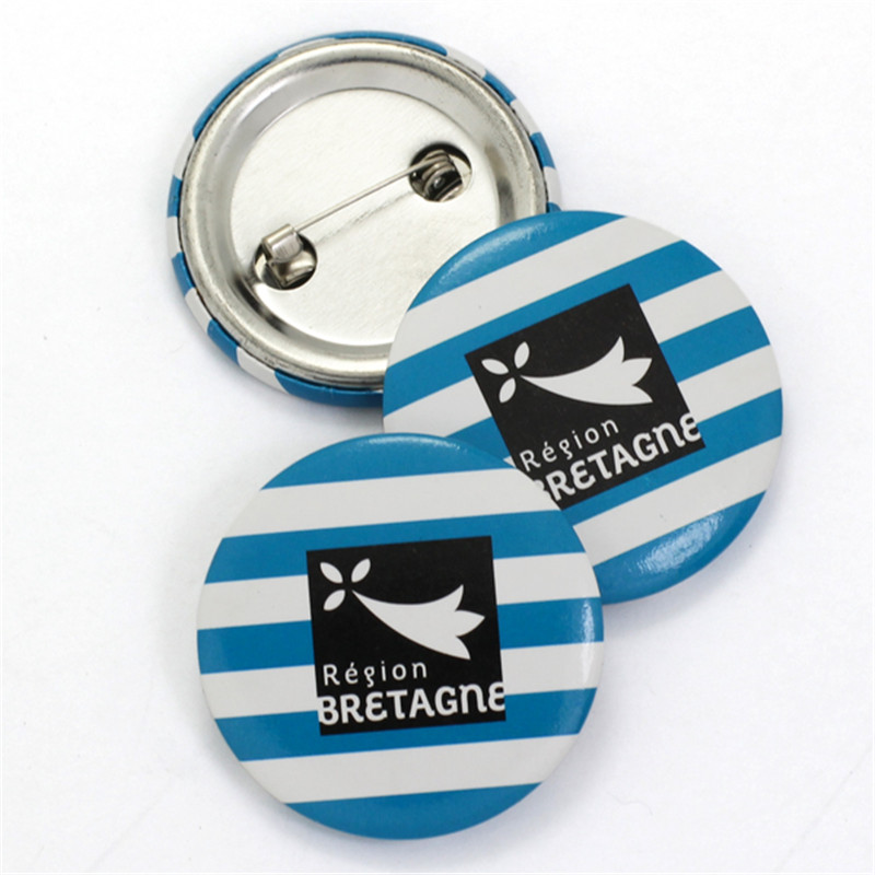 50pcs lot customized button badge 44 58 75mm custom design tinplate badges with safety pin any