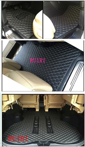 Bonnes tapis! Personnalisé spécial de voiture tapis de sol pour Conduite À Droite Mitsubishi Delica D5 7 sièges 8 sièges 2018-2007 étanche tapis