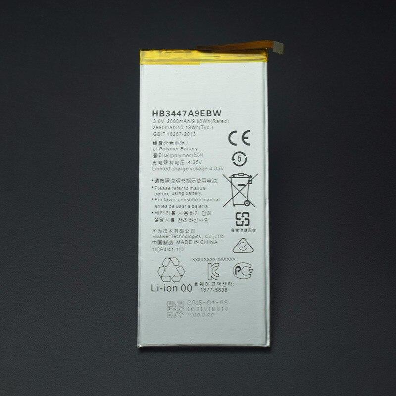 Pour Huawei P8 batterie HB3447A9EBW Haute Qualité 2680 Mah remplacement de La Batterie li-batterie pour Huawei Ascend P8 Android Téléphone