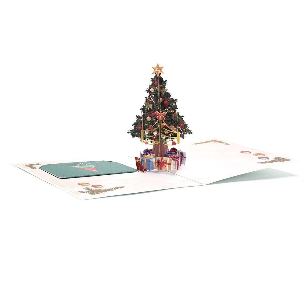 3d christmas tree gifts greeting card postcard merry xmas