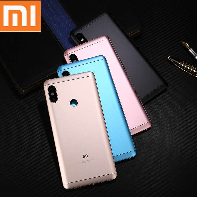 Redmi Note 5 Pro Original Case for Xiaomi Redmi Note 5 Pro Back Battery Cover Housing Replacement Part Power Volume Buttons