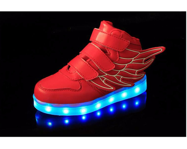 Sneakers Met Licht : New casual luminous shoes led kids fashion met licht stars