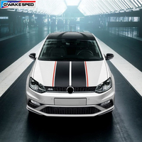 Sport Stripes Car Bonnet Sticker Sedan Hatchback Auto Hood Tail Bumper Decor Decals For Volkswagen Golf 7 POLO KIA Hond Ford