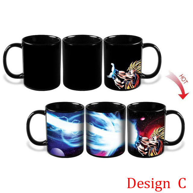 Changing Color Mugs Dragon Ball Z Mug SON Goku Heat Reactive Ceramic Super Saiyan Coffee Cups