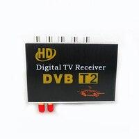 Double 2 Antenna Car DVB T2 Mobile Digital TV Box External USB DVB-T2 Car TV Receiver Russian&Europe&Southeast Asia