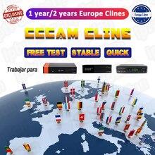 DVB-S2 Receptor Cccam cline for 1 year Spain Oscam cline use for GT media V9 Super V8 Nova Satellite TV Receiver Europe channels