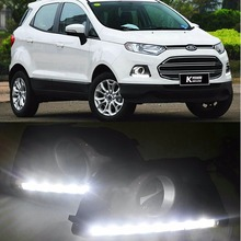 Car LED daytime running light For Ford Ecosport 2013 2014 2015 LED DRL daylight waterproof signal modeling lamp