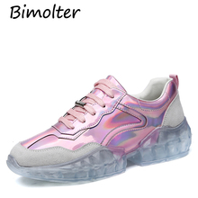 Bimolter New Brand Sneakers High Quality Shining Party Dancing Night Club Shoes Woman Flats Platfroms Spring Summer NB199