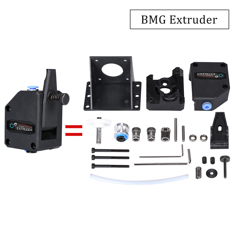 Peças de Impressora 3D BMG Clone Dual Drive de atualização Extrusora Extrusora extrusora Bowden CR10 filament 1.75 milímetros para impressora 3d