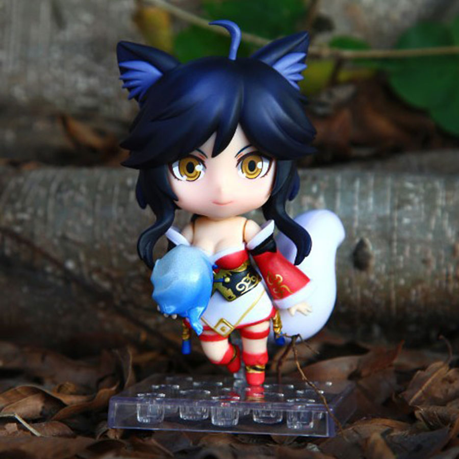 10cm Anime LOL 411 Ahri Nendoroid PVC Action Figure movable Model Doll Collection Toys Kids Christmas gifts