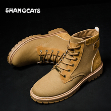Men's vulcanized shoes Men winter shoes High top casual shoes khaki mens shoes black green mens winter footwear zapatos hombre