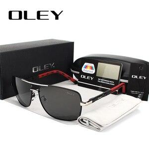 Мужские солнцезащитные очки OLEY, черные поляризационные очки для вождения, с логотипом на заказ, Y8724, 2019