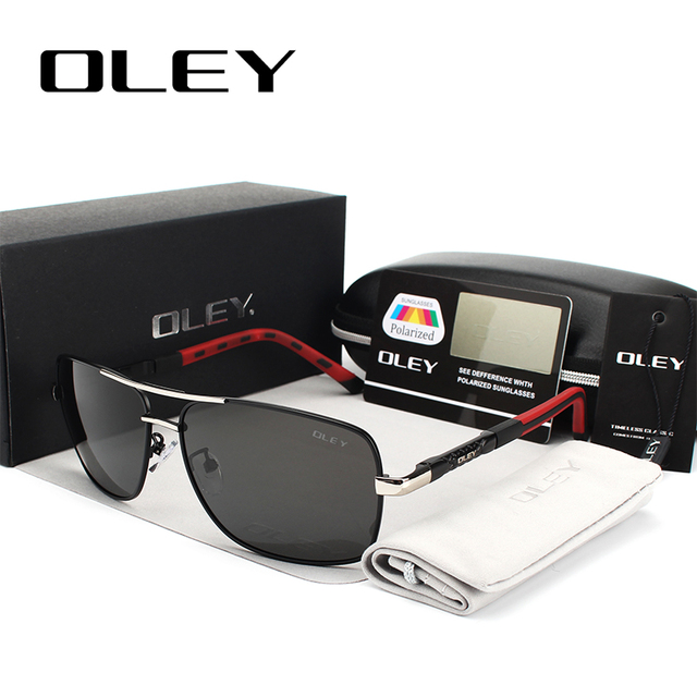 OLEY 브랜드 남자 편광 선글라스 여자 태양 안경 운전 고글 Oculos 지원 로고 사용자 정의 Y8724