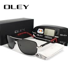 OLEY gafas de sol polarizadas para hombre y mujer, lentes de sol unisex, adecuadas para conducir, con logotipo personalizado, Y8724