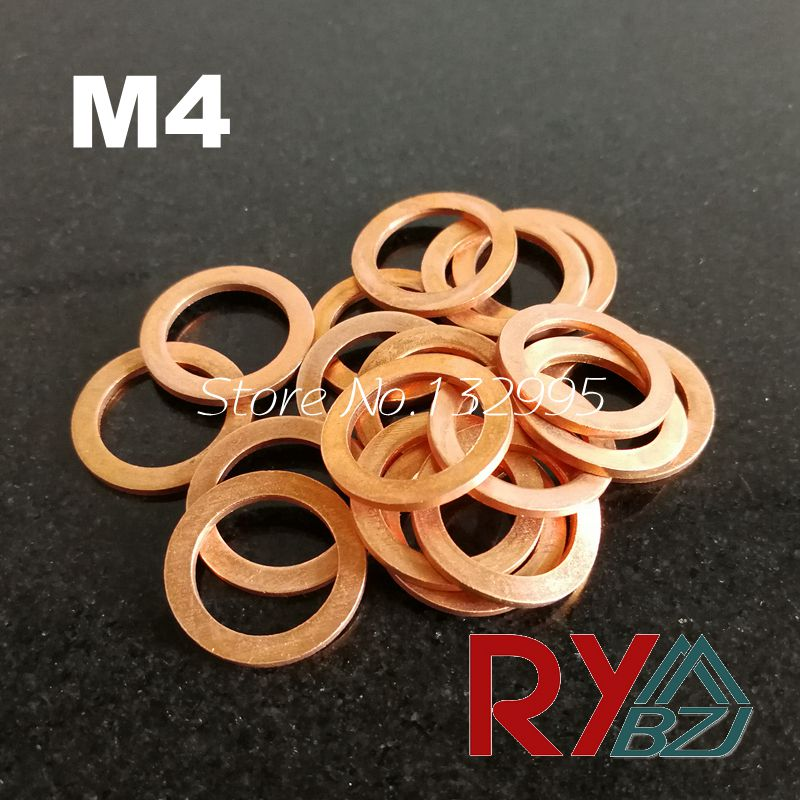Copper washer M4  Copper Flat Washer, Seal washerCopper washer M4  Copper Flat Washer, Seal washer