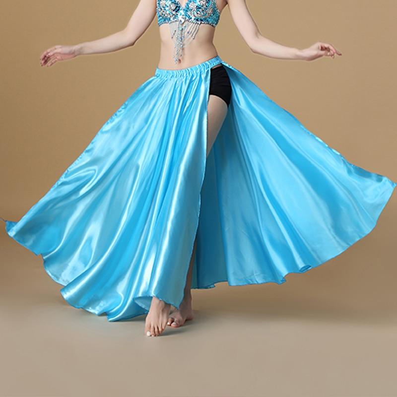 Image 5 - 2020 Performance Belly Dance Costume Saint Skirt 2 sides Slits Skirt Sexy Women Oriental Belly Dance Skirt Female Dance ClothesBelly Dancing   -