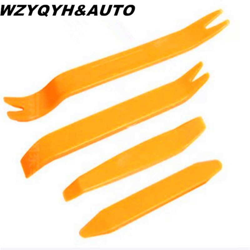 New 4pcs Auto Car Radio Panel Door Clip Trim Dash For Volkswagen VW POLO cc Tiguan Passat B5 B6 B7 Golf MK6 Jetta MK5 MK6 11pcs new red nylon auto car audio door dash tirm panel install
