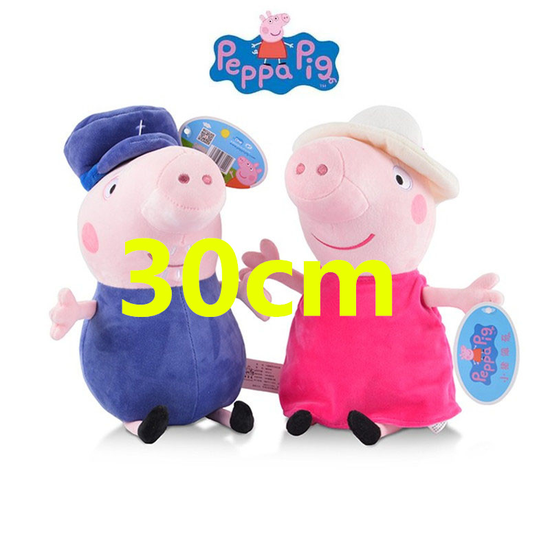 30cm 12'' Genuine Peppa Pig Grandpa Grandma Peppa George Plush Toy Kids Birthday Christmas Gift Hot Sale