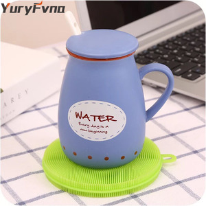 Image 5 - YuryFvna Silicone Dish Sponge Antibacterial Kitchen Scrubber Vegetable Fruit Brush Cleaning Sponge Dish Washing Brush Pot Holder