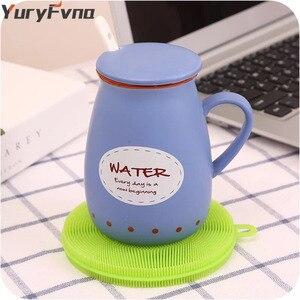 Image 5 - Yuryfvna Siliconen Schotel Spons Antibacteriële Keuken Scrubber Groente Fruit Borstel Spons Afwasborstel Pot Houder