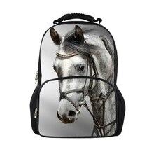 Hot Animal Children Kids School Backpack 3D Crazy Horse Print Men s Backpacks Large Capacity Rucksack