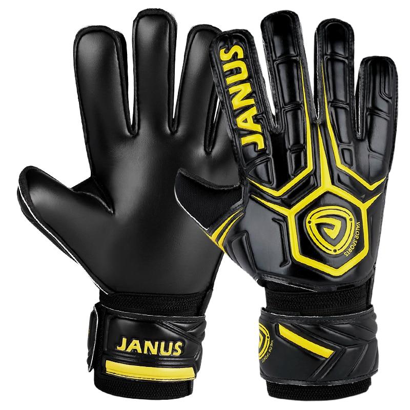 Janus JA919 Dítě pro dospělé Profesionální protiskluzové latexové fotbalové Brankářské rukavice Fotbalové rukavice Strážce Ochrana prstů Chlapec Rukavice