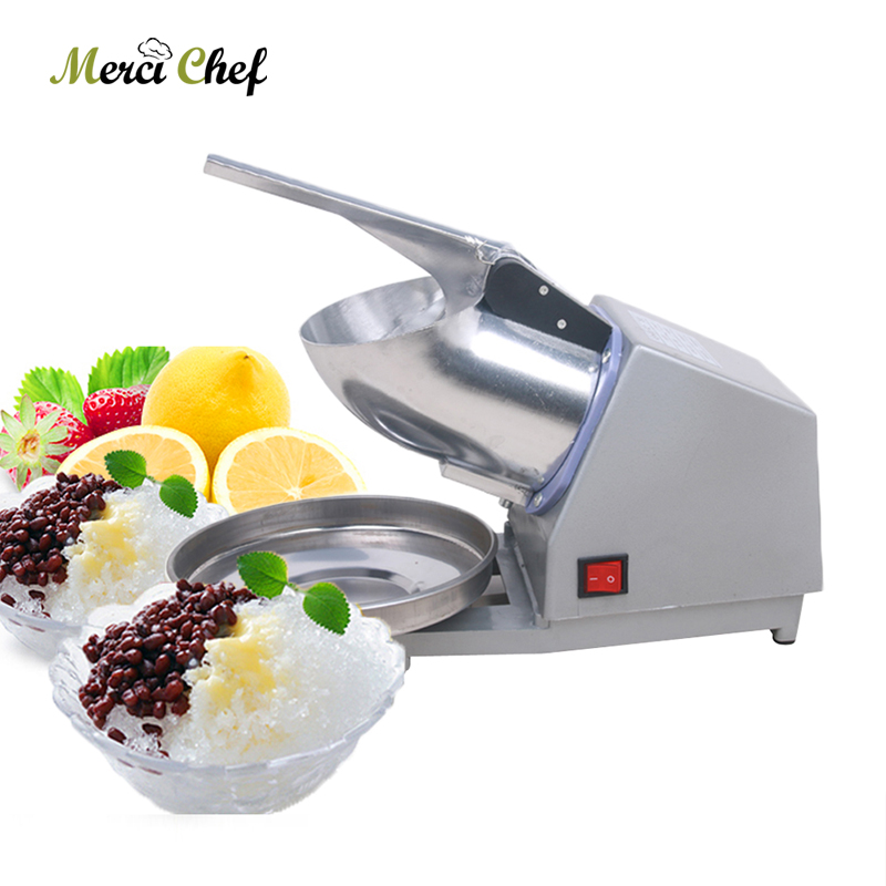 ITOP Electric 300W Ice Crusher Commercial DIY Smoothie Bar Cocktail Ice Crusher Shaver Machine Ice Chopper 60KGS/h EU//UK Plug