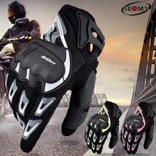 Suomy verão respirável luvas da motocicleta tela sensível ao toque guantes moto luvas de proteção ciclismo corrida inverno luvas quentes