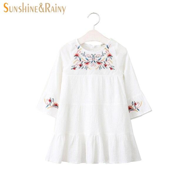 Sunshine Rainy S Dresses Spring Autumn Flower Embroidery Dress For Brand Designer Kids Princess