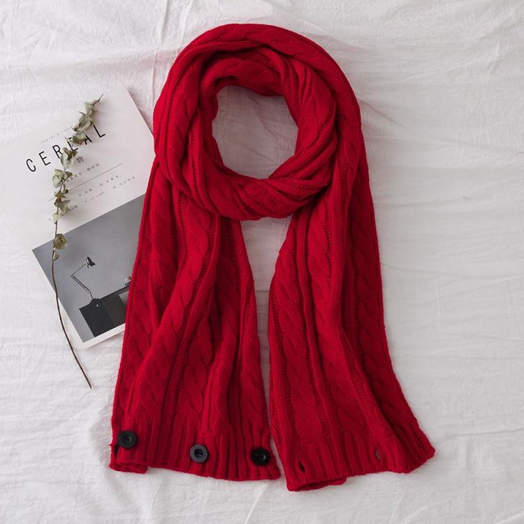 buckle towel scarf dual-use knit wool wild winter women warm scarves, nice winter women scarf