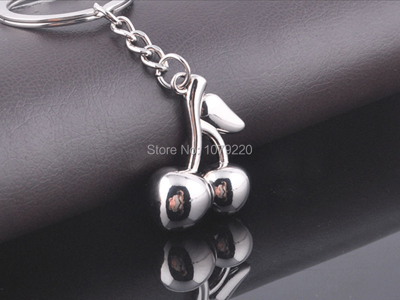 Jewelry Sets & More Competent Hj Cherry Keyring Creative Polished Chrome Keychain Fashion Jewelry Bag Pendant Gift