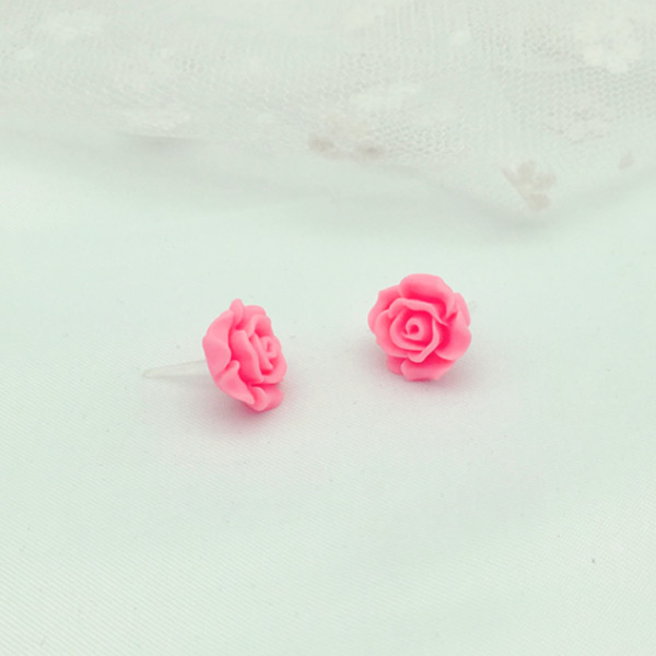 Sailor Moon Kino Makoto/ Sailor Jupiter Cosplay Accessory  Earrings Rose Flower Stud Earrings