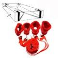 Секс-Игрушки Для Взрослых Игр, Красный Бархат Нейлон Наручники и Лодыжки Манжеты Наборы, связанные Tease Под Кровать Связывание Сдержанность Ремни Для Пар