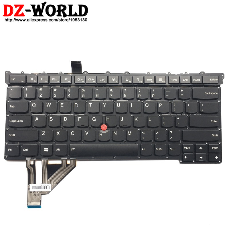 New Original for Lenovo Thinkpad X1 Carbon 3rd Gen 3 MT: 20BS 20BT US English Backlit Keyboard Backlight Teclado SM20G18605 new original for lenovo thinkpad x1 carbon 5th gen 5 back shell bottom case base cover 01lv461 sm10n01545