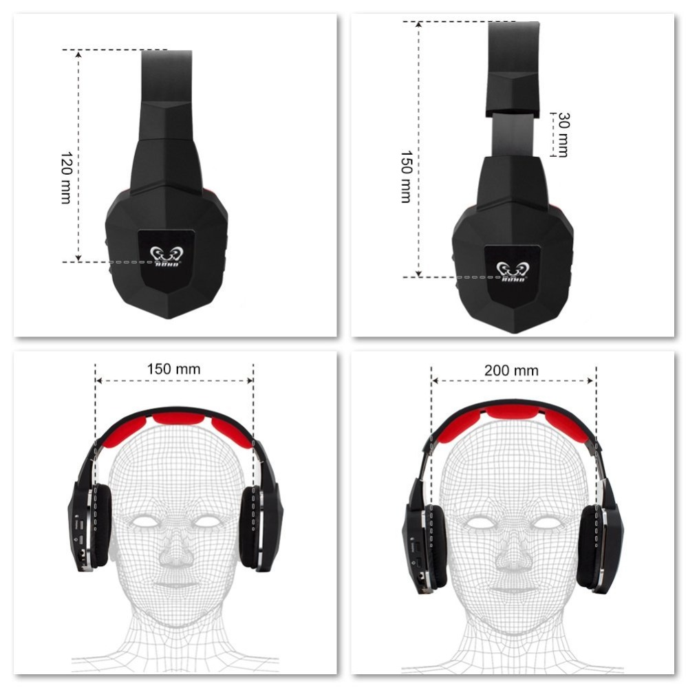 7 1 Wireless Headset 2 4Ghz Optical Noise Canceling Stereo Gaming Game Headphones for TV PC PS4 Xbox with 7 1 Surround Sound in Headphone Headset from Consumer Electronics