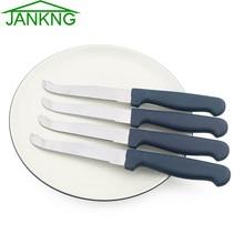 JANKNG шт. 4 шт. нержавеющая сталь масло ножи столовая посуда Синий ручка сыр нож для пиццы нож для хлеба сыр торт кухня инструменты