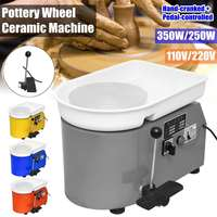Pottery Forming Machine 110V 550W Electric Pottery Wheel DIY Clay Tool with Tray Flexible Hand Foot Pedal For Ceramic Work