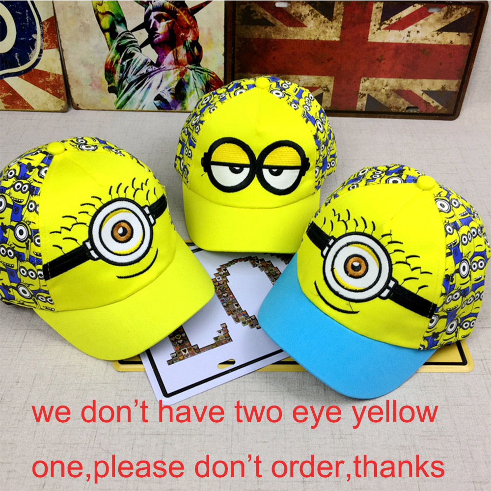 New Minions tecknad film för Minions Justerbara Caps Girl Kids Baseball Hat Cool Boy Hip-hop cosplay accessary
