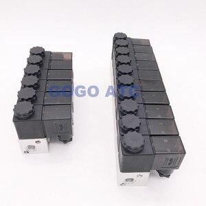 "Image 4 - GOGO 3 WAY PNEUMATICอลูมิเนียมsolenoidวาล์ว 3V1 06 พอร์ต 1/8 ""BSP AC DC Microควบคุมแก๊สManifoldวาล์ว"