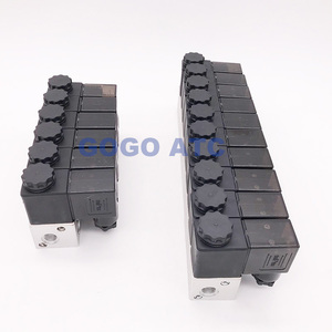 Image 4 - GOGO électrovanne pneumatique 3 voies en Aluminium 3V1 06 Port 1/8 pouces BSP AC DC micro commande vanne gaz électrique collecteur