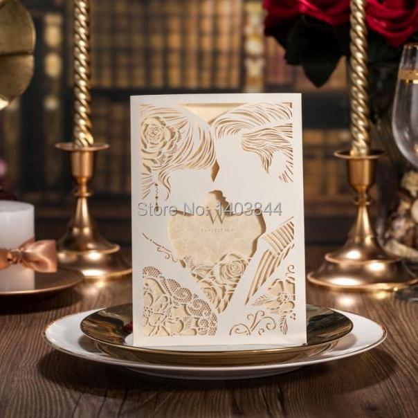 Laser Cut Wedding Invitation Card Love New Cw010