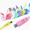 1m crystal led light Micro USB Cable Sync Data Charger Cables for Samsung for HTC Android mobile phone