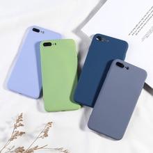 Sang trọng Kẹo Màu Sắc Điện Thoại Cho iPhone 7 8 Plus Ốp Lưng Đơn Giản Mềm TPU Ốp Lưng Có Cho iPhone 6 6 S 7 8 X XS XR XS Max